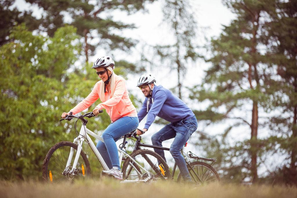 Bicicleta por el pinar